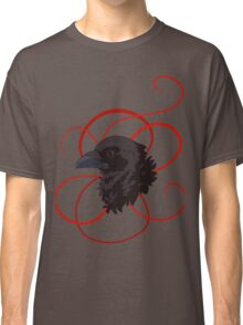 Black Raven with Red Ribbon Custom Design Classic T-Shirt