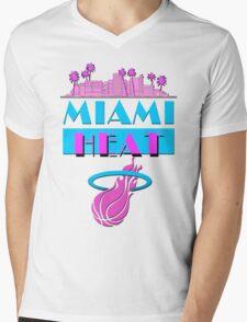 Heat Vice Sky High on Light Mens V-Neck T-Shirt