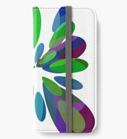 Colorful abstract flower iPhone Wallet/Case/Skin
