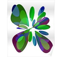 Colorful abstract flower Poster