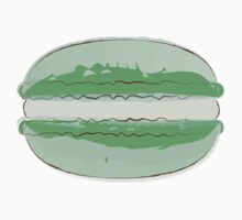 Green Macaroon Sticker French Macaron Art Food Journal by StickerStore