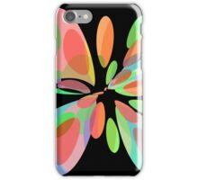 Colorful abstract flower iPhone Case/Skin