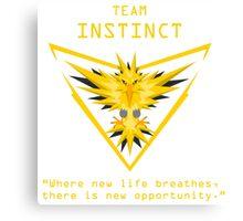 Pokemon GO Team Instinct Canvas Print