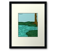 Simplistic Scenery Framed Print