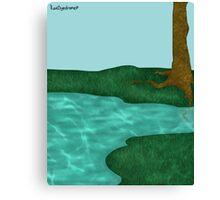 Simplistic Scenery Canvas Print