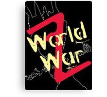 World War Z Alternative Canvas Print