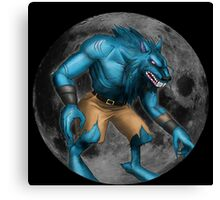 Sabrewulf Killer instinct character illustration Canvas Print