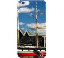 Riverside museum and the Glenlee iPhone Case/Skin