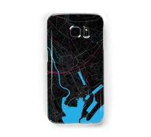 Cardiff Dark Magenta Map Samsung Galaxy Case/Skin