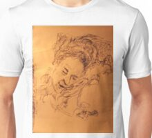 Mother asleep -(020413)- Black biro pen + A5 paper white Unisex T-Shirt