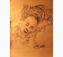 Mother asleep -(020413)- Black biro pen + A5 paper white Unisex T-Shirt