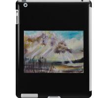 Beach Sun Clouds Contemporary Acrylic Painting iPad Case/Skin