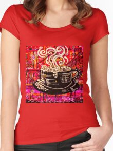 Coffee House Women's Fitted Scoop T-Shirt