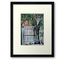 Cherry Tree And Ivy Plein Air Contemporary Acrylic Painting Framed Print