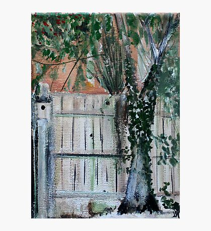 Cherry Tree And Ivy Plein Air Contemporary Acrylic Painting Photographic Print