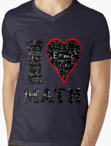 I love math Mens V-Neck T-Shirt