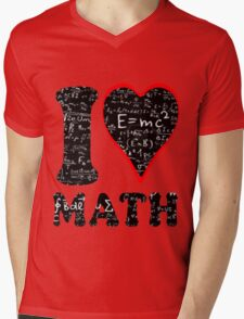 I love math Mens V-Neck T-Shirt