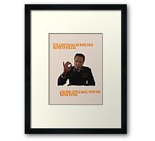 The Watch - Pulp Fiction Framed Print