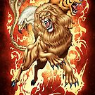 Fantasy Creature: Lion, Eagle, Tiger and Snake by alrioart