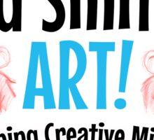 Designing Creative Mischief Sticker Sticker