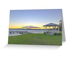 Squid's Ink Sunset Greeting Card