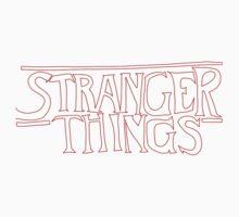 Stranger Things - Drawn Logo  One Piece - Long Sleeve