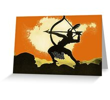 Lotte Reiniger wonderful Silhouette design!~ Greeting Card
