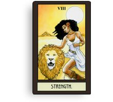 """Strength"" Tarot Card Canvas Print"
