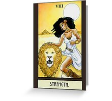 """Strength"" Tarot Card Greeting Card"