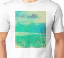 Blue Stripes - Green Tint Unisex T-Shirt