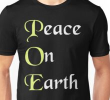 Meaning of POE Peace on Earth - Edgar Allan Poe T Shirt Unisex T-Shirt