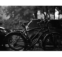 Bicycles In The Rain Photographic Print