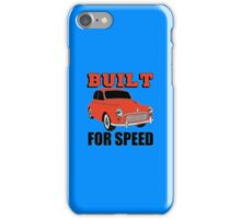 BUILT FOR SPEED-CLASSIC RED iPhone Case/Skin