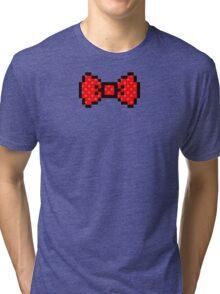 8 bit bow tie Tri-blend T-Shirt