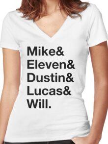 Boys - Stranger Things Women's Fitted V-Neck T-Shirt