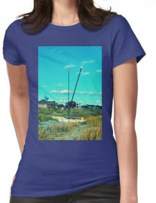 Sailing The Dunes Womens Fitted T-Shirt