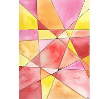 Mosaic in Red, Pink, Orange and Yellow Photographic Print