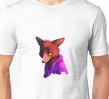 Retro Purple/Blue Pyro Fox Unisex T-Shirt