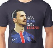 Ibra left like a legend Unisex T-Shirt
