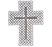 Celtic Knot Cross Photographic Print