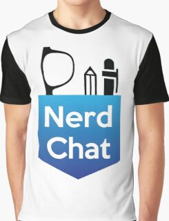 Nerd Chat Logo (White Lettering) Graphic T-Shirt