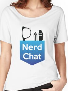 Nerd Chat Logo (White Lettering) Women's Relaxed Fit T-Shirt