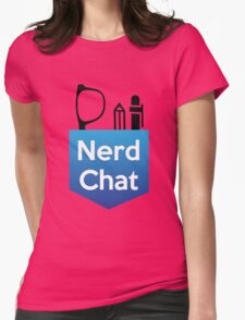 Nerd Chat Logo (White Lettering) Womens Fitted T-Shirt