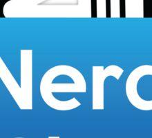 Nerd Chat Logo (White Lettering) Sticker