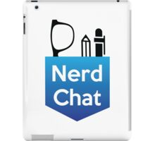 Nerd Chat Logo (White Lettering) iPad Case/Skin
