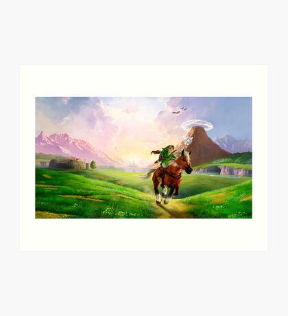 TLOZ Ocarina of Time - Hyrule Field Art Print