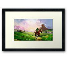 TLOZ Ocarina of Time - Hyrule Field Framed Print
