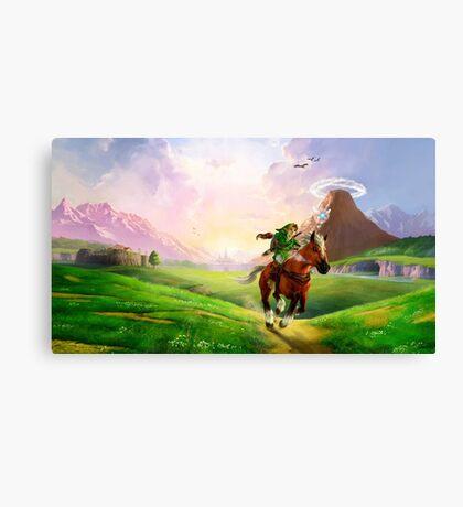 TLOZ Ocarina of Time - Hyrule Field Canvas Print