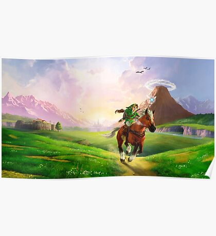 TLOZ Ocarina of Time - Hyrule Field Poster