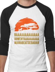 BAAAAAAAAAAAAA SOWENYAAAAAAAAAA MAMABEATSEBABAH African Lion T Shirt Men's Baseball ¾ T-Shirt